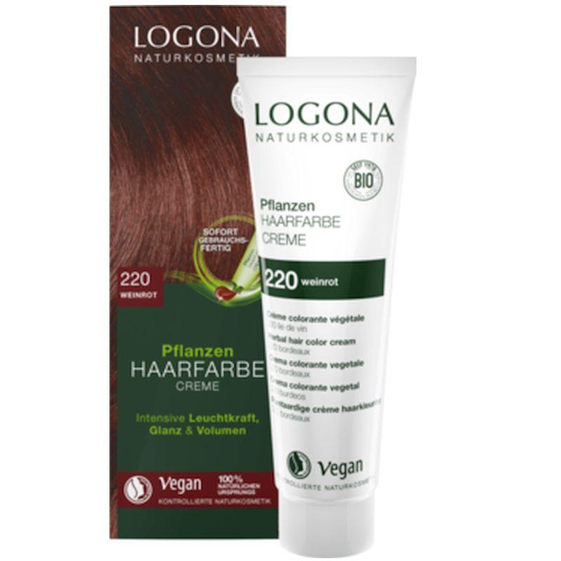 Krémová prírodná farba na vlasy vínovo červená LOGONA e28c9ea3941