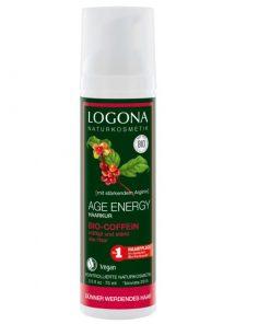 Ošetrujúca kúra Age Energy s BIO kofeínom LOGONA - bio kozmetika na vlasy. Je špeciálne vyvinutý na slabé a ochabnuté vlasy, dodáva vlasom pružnosť a objem