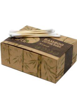 Bambusové vatové tyčinky 200 kusové. ZERO WASTE. Tyčinky sú z bambusu a bavlny, úplne rozložiteľné a nezaťažujú životné prostredie