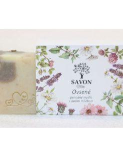 Organické mydlo OVSENÉ s kozím mliekom SAVON, mydlo bez chémie. Slovenská prírodná kozmetika na telo a tvár. Mydlo je vhodné na citlivú, suchú pokožku