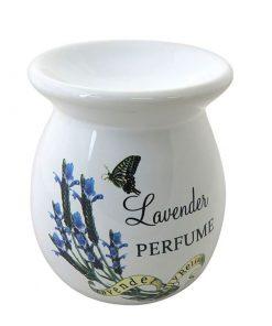 Aromalampa Levanduľa keramická s extra hlbokou miskou, je vhodná ako darček pre ženu i muža. Elegantný moderný bytový doplnok