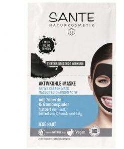 BIO maska Aktívne uhlie. Čistí póry od nečistôt anahromadeného kožného tuku azmatňuje pleť. Obsahuje kaolín abambusový prášok. Vhodné na mastnú pleť . BIO kozmetika proti akné