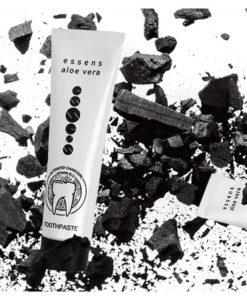 Zubná pasta aktívne uhlie, aloe vera, vitamín B12 - bieli zuby, bez fluoridu. Odstraňuje zubný povlak, obmedzuje tvorbu zubného kazu, poskytuje svieži dych