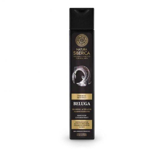 Aktivátor - pánsky šampón proti vypadávaniu vlasov. Prírodný šampón. Prírodná kozmetika pre muža, certifikovaná bez parabénov, silikónov
