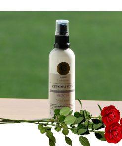 Ružová voda bez alkoholu - čistenie pleti, fixovanie líčenia, osvieženie pleti. Sťahuje póry, osviežuje a omladzuje pleť. Vhodné pri rosacei a kuperóze