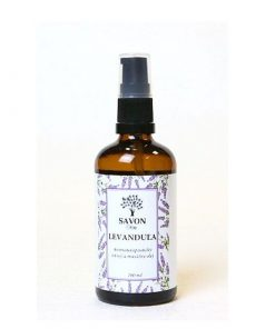 Telový masážny olej Levanduľa, prírodná kozmetika zo Slovenska. Priaznivo pôsobí pri popáleninách a upokojuje pokožku po opaľovaní. Olej po opaľovaní, upokojuje a lieči pokožku