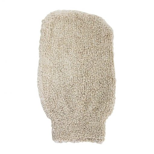 Jutová rukavica masážna - 100% prírodná, Zero waste. 100% rozložiteľná, biologicky odbúrateľná. Nezaťažuje prírodu zbytočným odpadom, môžete ju kompostovať.