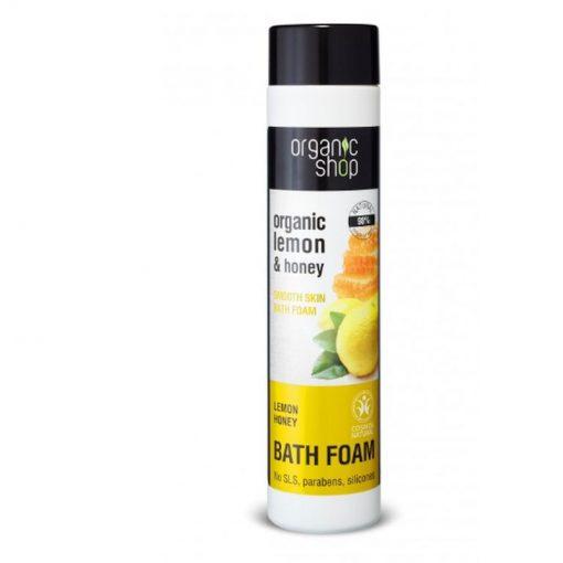 Organická pena do kúpeľa Med a Citrón 500ml. Prírodná kozmetika, certifikovaná bez parabénov, silikónov, SLS a iných syntetických látok.