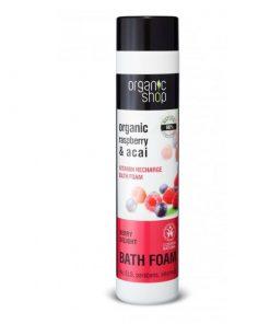 Organická pena do kúpeľa Ovocné potešenie 500ml. Prírodná kozmetika, certifikovaná bez parabénov, silikónov, SLS a iných syntetických látok.