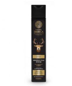 Pánsky šampón proti lupinám Sibírsky jeleň. Prírodný šampón. Prírodná kozmetika pre muža, certifikovaná bez parabénov, silikónov
