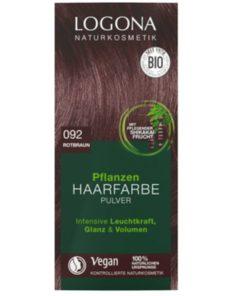 Prášková BIO farba na vlasy orechovo gaštanová bez chémie, VEGAN na hnedé vlasy, ktorá vlasy neničí, ale vyživuje, farbí a chráni. Bio kozmetika