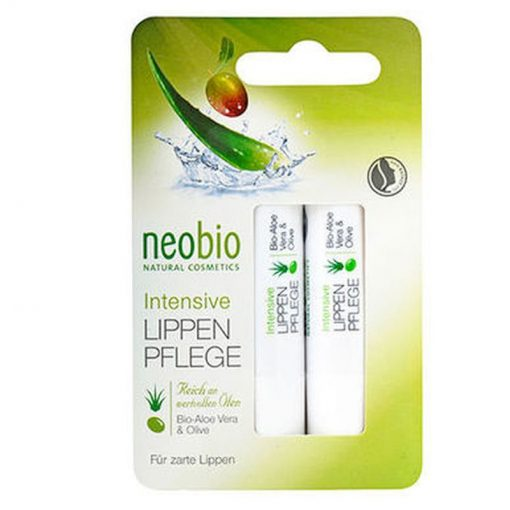 BIO balzam na pery Intensive 2ks, bio kozmetika na tvár, s obsahom aloe vera a olivového oleja. Hydratuje a chráni citlivú pokožku pier. Prírodná kozmetika