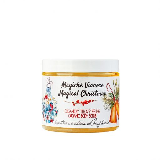 Magické Vianoce organický soľný telový peeling - vianočný darček pre ženu. 100% Prírodná kozmetika. Najlepší darček na vianoce pre ženu