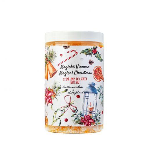 Magické Vianoce kúpeľová soľ - vianočný darček pre ženu. 100% Prírodná kozmetika, aj pre staršie deti. Najlepší darček na Vianoce.