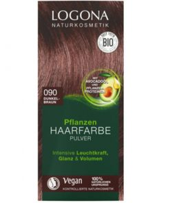 Prášková BIO farba na vlasy tmavo hnedá bez chémie, VEGAN na hnedé vlasy, ktorá vlasy neničí, ale vyživuje, farbí a chráni. Bio vlasová kozmetika