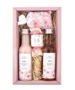 Darčeková kazeta Ruža Premium je prírodná darčeková kozmetika bez parabénov s príjemnou a jemnou vôňou ruže. Darček pre ženy a dievčatá