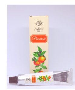 Ochranný krém na ruky Pomaranč Savon vyhladzuje suché ruky. Obsahuje baobabový a konopný olej, vitamín E, včelí vosk.Rýchlo sa vstrebáva. Lieči drobné rany
