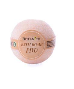 Guľa kúpeľová PIVO, prírodná kozmetika na suchú pokožku. Šumivá kúpeľová guľa ponúka dokonalú starostlivosť a uvoľnenie celému telu.