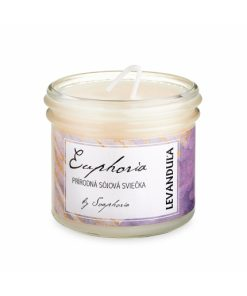 Levanduľové pole ručne odlievaná sójová sviečka - prírodná sviečka. Pôsobí ako repelent proti hmyzu a je osvedčená proti všiam, taktiež pôsobí proti moliam.