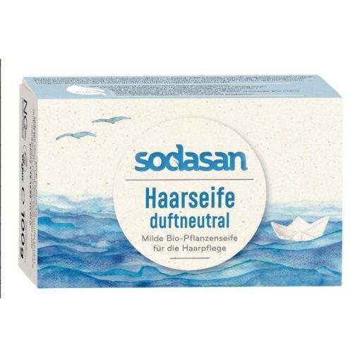 Tuhý šampón Neutrál. Biokozmetika. Bio mydlo na vlasy. Obsahuje bambucké maslo. Šampon je bez vône. Prírodná kozmetika pre ženy, pre muža