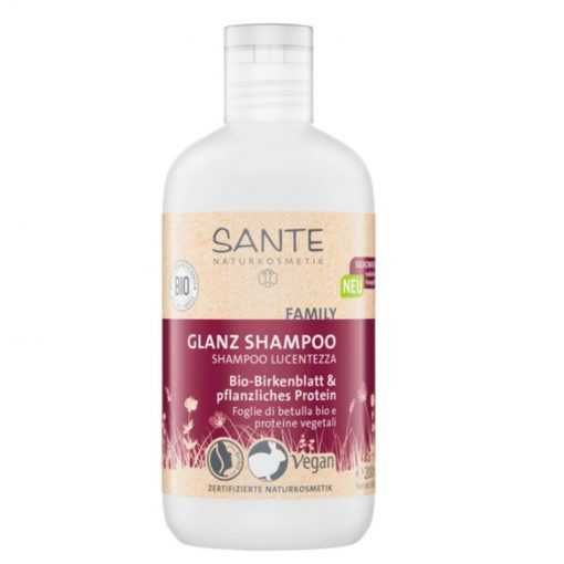 BIO brezový šampón s rastlinným proteinom. BIO kozmetika na vlasy, prírodná kozmetika pre rodinu. Obsahuje morskú soľ, extrakt z brezových listov, aloe vera