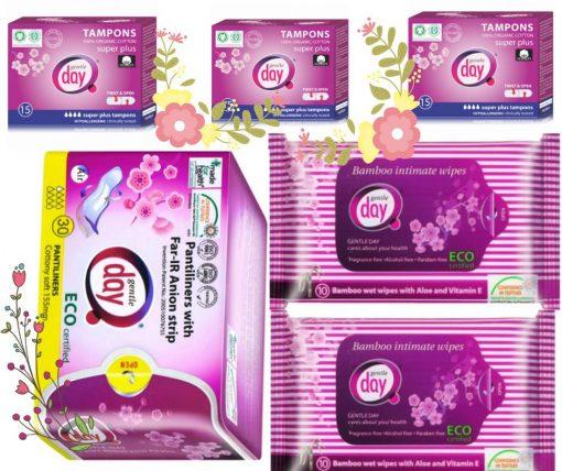 Akciový balík Tampón Super Plus, predaj so zľavou 10%, akcia na anionové vložky. Balík intímnej hygieny. Zabudni na vaginálnu mykózu a zápaly.