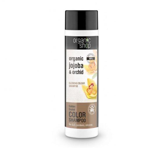 ECO šampón Zlatá orchidea - prírodný šampón na farbené vlasy. Pomáha udržiavať farbu vlasov. Dodáva vlasom úžasnú pružnosť. S jojobovým olejom, proteínom