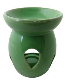 Aromalampa veľká zelená keramická s extra hlbokou miskou, je vhodná ako darček pre ženu i muža. Elegantný moderný bytový doplnokvv