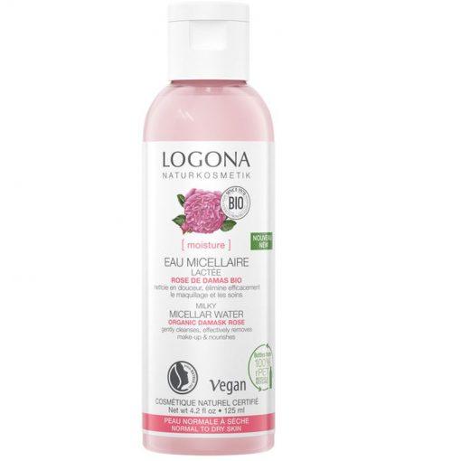 Krémová micelárna voda Damascénska ruža - bio kozmetika na tvár, TOP, bezparabénová. Krémovo jemná, dokonale a šetrne odstraňuje make up. Prírodná kozmetika