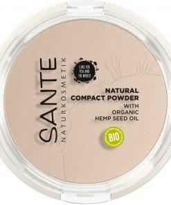 BIO kompaktný púder 01 Cool Ivory SANTE s minerálnymi pigmentmi fixuje make-up a dodá pleti zamatovo - matný vzhľad. BIO dekoratívna kozmetika