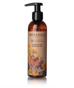 Organický šampón 9 divov kvetov s panthenolom - prírodná vlasová kozmetika na ekzém a lupiny, proti vypadávaniu vlasov. 100% prírodná kozmetika