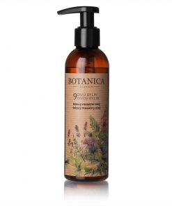 Telový masážny olej 9 divov bylín - 100% čisto prírodná kozmetika na telo. Na suchú, dehydratovanú, šupinatú pokožku, na upokojenie, hydratáciu, regeneráciu