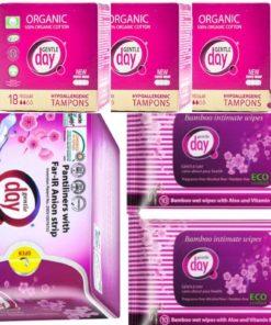 Akciový balík Tampón Regular, predaj so zľavou 10%, akcia na anionové vložky. Balík intímnej hygieny. Zabudni na vaginálnu mykózu a zápaly.