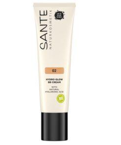 BB krém Hydro Glow 02 Medium dark Sante - 100% bio dekoratívna kozmetika. Obsahuje kyselinu hyalúronovú, ktorá dokonale hydratuje pleť s dlhodobým účinkom.