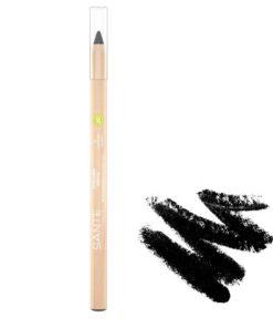 BIO Prírodná ceruzka na oči 01 Black s jemným zložením so včelím voskom a ricínovým olejom, aj na citlivé oči, prírodná dekoratívna kozmetika, BIO kozmetika