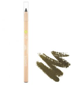 BIO Prírodná ceruzka na oči 04 Oliva so včelím voskom a ricínovým olejom, aj na citlivé oči, prírodná dekoratívna kozmetika, 100% BIO kozmetika