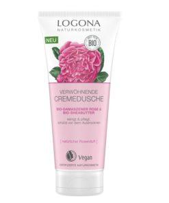 BIO sprchový KRÉM Damašská ruža s bambuckým maslom a bio ružovou vodou z damascenskej ruže. 100% biokozmetika pre suchú pokožku