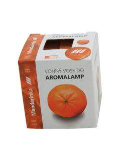 Vonné vosky Mandarinka 8 kociek s esenciálnym olejom v palmovom vosku, vhodné pre malé aromalampy. Bez nebezpečných syntetických prísad. 100% prírodný