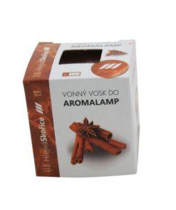 Vonné vosky Škorica 8 kociek s esenciálnym olejom v palmovom vosku, vhodné pre malé aromalampy. Bez nebezpečných syntetických prísad. 100% prírodný