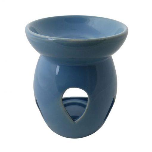 Aromalampa veľká modrá keramická s extra hlbokou miskou, je vhodná ako darček pre ženu i muža. Elegantný moderný bytový doplnok