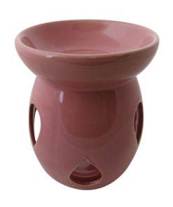 Aromalampa veľká ružová keramická s extra hlbokou miskou, je vhodná ako darček pre ženu i muža. Elegantný moderný bytový doplnok