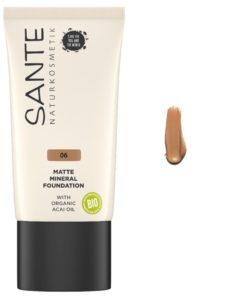 BIO Minerálny Matný make up 06 Warm Caramel - na mastnú pleť. 100% čisto prírodná bio dekoratívna kozmetika. Vyživuje, zmatňuje pleť, neupcháva póry.