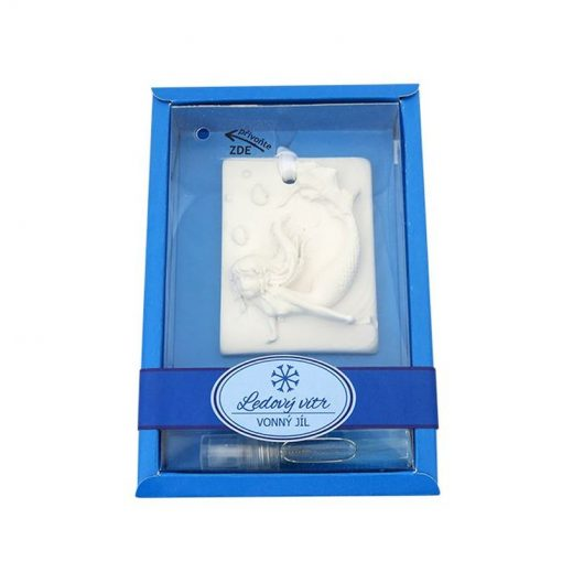 Keramický vonný íl Ľadový vietor - vkusná voňavá dekorácia do WC, auta. Slúži k prevoňaniu a zároveň dekorácií v izbe, v kúpeľni, v skrini či šatníku.