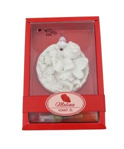 Keramický vonný íl Malina - vkusná voňavá dekorácia do WC, auta. Slúži k prevoňaniu a zároveň dekorácií v izbe, v kúpeľni, v skrini či šatníku.