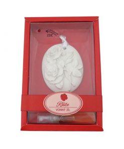 Keramický vonný íl Ruža - vkusná voňavá dekorácia do WC, auta. Slúži k prevoňaniu a zároveň dekorácií v izbe, v kúpeľni, v skrini či šatníku.
