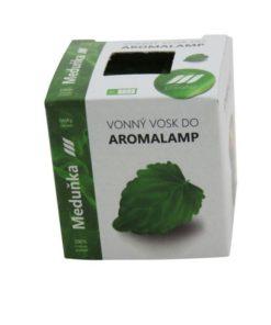 Vonné vosky Medovka 8 kociek s esenciálnym olejom v palmovom vosku, vhodné pre malé aromalampy. Bez nebezpečných syntetických prísad. 100% prírodný