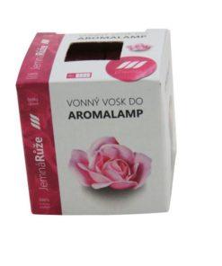 Vonné vosky Ruža 8 kociek s esenciálnym olejom v palmovom vosku, vhodné pre malé aromalampy. Bez nebezpečných syntetických prísad. 100% prírodný