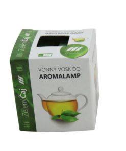 Vonné vosky Zelený čaj 8 kociek s esenciálnym olejom v palmovom vosku, vhodné pre malé aromalampy. Bez nebezpečných syntetických prísad. 100% prírodný