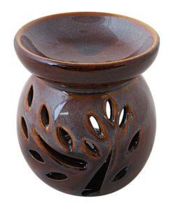 Aromalampa modro hnedá keramická s hlbokou miskou, je vhodná ako darček pre ženu i muža. Elegantný moderný bytový doplnok