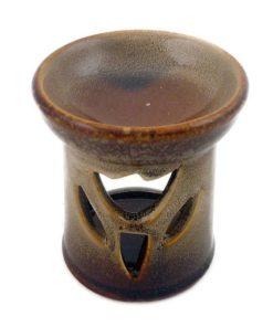 Aromalampa Tulipán hnedo béžová malá keramická na vonné vosky, je vhodná ako darček pre ženu i muža. Elegantný moderný bytový doplnok